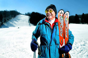 senior skiier